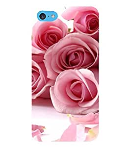 Print Masti Designer Back Case Cover for Apple iPhone 5c (Fall Petals Wish Love Pink White Bud)
