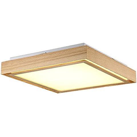 LINA-Ciondolo Vintage retrò tonalità chiare Contemporanea Ciondolo plafoniera luce metallo soffitto illuminazione lampada Lampada da soffitto in legno tinta 51 * 51 , 66*66