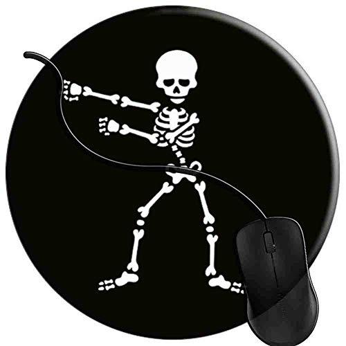 Gaming Mauspad Runde Zahnseide Flossing Skeleton Oberfläche verbessert Geschwindigkeit und Präzision rutschfest Mouse Pad 2T2831 -
