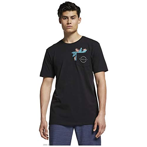 Hurley Herren Hanoi Pocket Tee Short Sleeve Tee - schwarz - X-Groß - Hurley-t-shirt Pocket