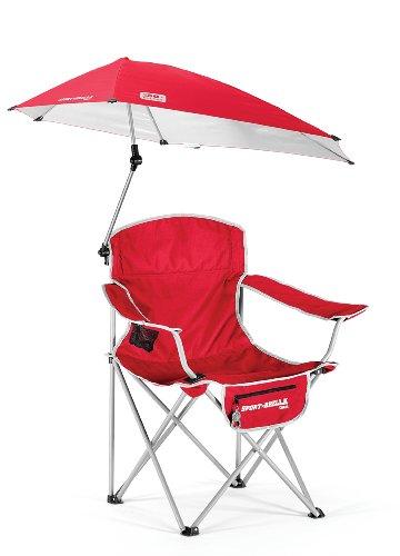 SKLZ Campingstuhl Sportsbrella, zusammenklappbar, mit Schirm rot rot