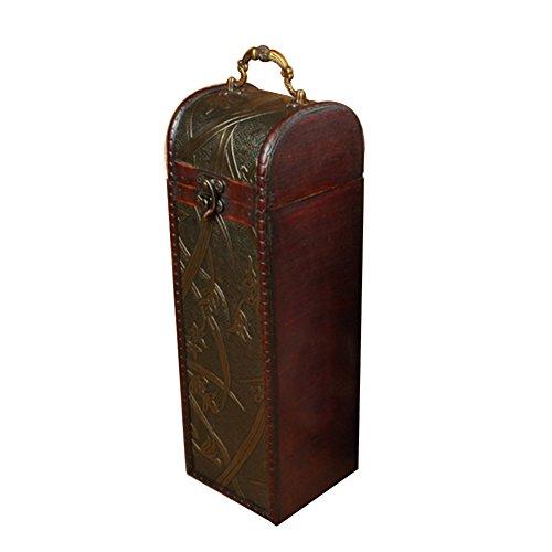 Preisvergleich Produktbild Wein Box,  Single rot Wein Aufbewahrungsbox Antik Rot Wein Paket Box Innovative Geschenk-Box
