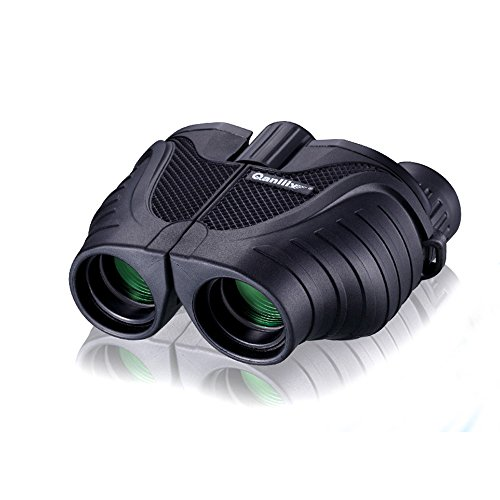 FELiCON® prismáticos 10 x 25 BAK4 de moda portátil Zoom HD azul película día visión nocturna prismáticos telescopio para adultos y niños Sky Star Gazing ver diseño de pájaros y viajar turismo escalada Match concierto
