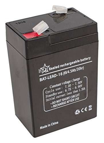 Esta batería de ácido plomo no necesita mantenimiento y puede usarse en fuentes de alimentación de emergencia, maquetas, sistemas de alarma, sistemas de energía solar, iluminación de emergencia, etc.Hoja de DatosColor: Negro .Voltaje: 6 V(CC)Longitud...