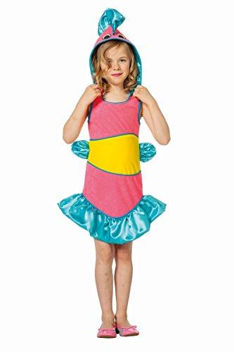 Kinder Kostüm tropischer Fisch in rosa Karneval Fasching Gr.152 (Tropischer Fisch Kostüm)