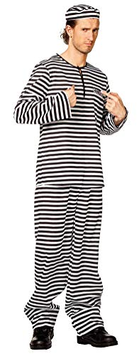 Herren Gefangene Hose Kostüm - Karneval-Klamotten Kostüm Sträfling Knast Häftling Gefangener