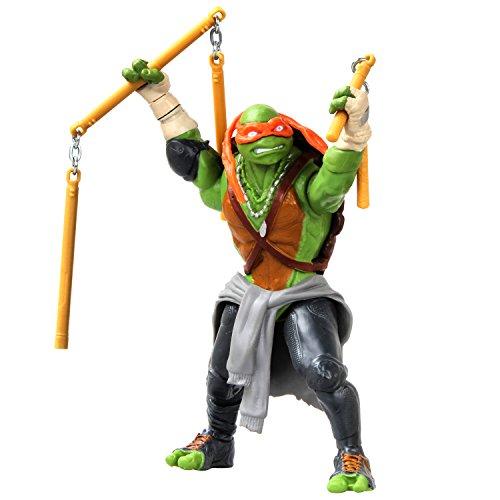 Teenage Mutant Ninja Turtles Movie Deluxe Michelangelo Figure Combat (Ninja Teenage Mutant Turtle Nunchucks)