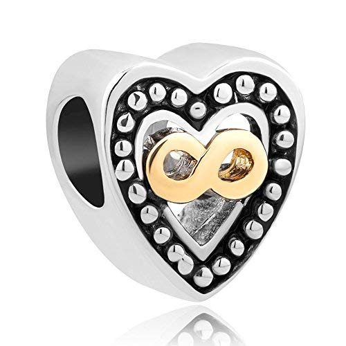 Sug Jasmin Herz Infinity Love Charme Perlen für Armbänder (Pandora Herz Charms-infinity)