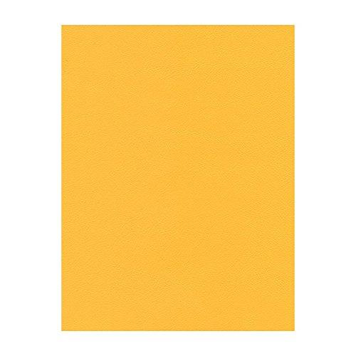 Stoff Polsterstoff Möbelstoff Bezugsstoff Meterware Sitzbezug Java Kunstleder Gelb MUSTER (Gelb Kunstleder)