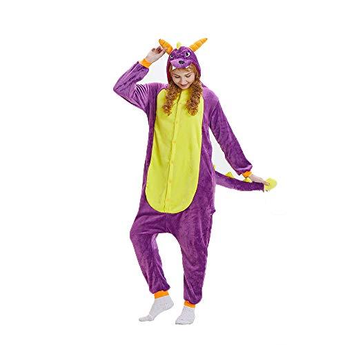 (NN IKEA Schlafanzug Tierkostüme Pyjamas Cartoon Cosplay Weihnachten Karneval,Purple,S)