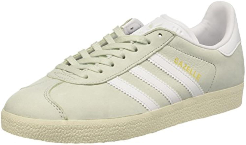 Adidas Gazelle, scarpe da ginnastica a Collo Basso Donna, verde (Linen verde Footwear bianca Cream bianca), 36 2 3 EU   Negozio famoso    Scolaro/Signora Scarpa