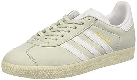 adidas Damen Gazelle Sneaker, Grün (Linen Green/Footwear White/Cream White), 40 EU
