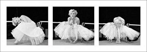 Marilyn Monroe Ballerina Triptych Poster Drucken (96,52 x 33,02 cm)