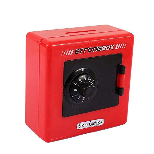 Jiayuane rot Kinder scherzt Code elektronische Piggy Querneigungen, Mini-ATM Sparen Sie Geld-Münzen-Bank-Münzen-Kasten für Kinderspaß-Spielzeug -