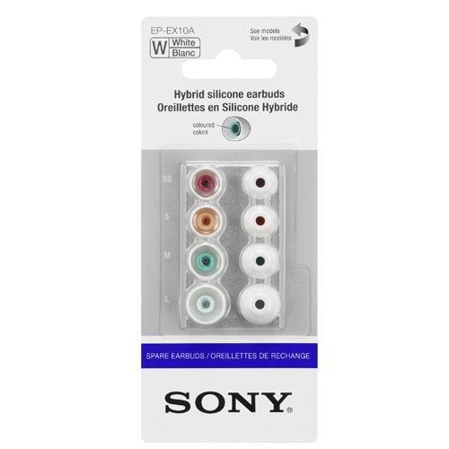 Sony EPEX 10 Ersatz Gummipolster für In-Ear-Kopfhörer weiß thumbnail