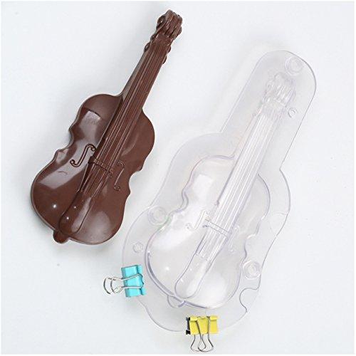 3D Geige DIY 3D Plastik Backform Modellierwerkzeug Backen Werkzeuge für Schokoladen Gelee Bonbons Candy Süßigkeiten