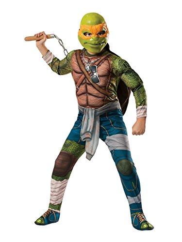 Generique - Ninja Turtles Michelangelo Lizenzkostüm für Kinder ()