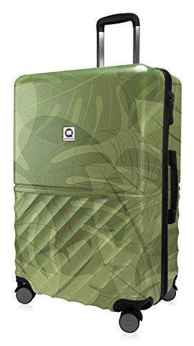 HAUPTSTADTKOFFER - Boxi - Hartschalen-Koffer Koffer Trolley Rollkoffer Reisekoffer 4 Rollen, TSA, 75 cm, 108 Liter, Floral