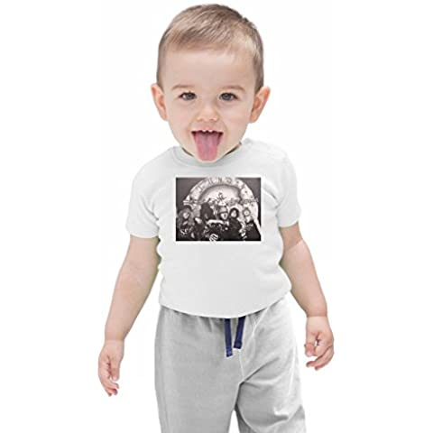 Guns N Roses Illustration Bebé camiseta ecológica Stylish Organic Baby T-shirt Fashion Fit Kids Printed Clothes by Genuine Fan