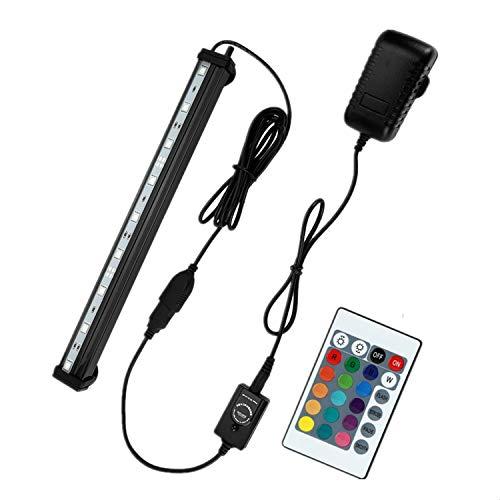 NONMON Aquarium LED RGB Lampe 23 CM Tube Hydrofuge Ampoule à Bulle Télécommande Pour Aquarium Poisson Puissance Maximale 3W