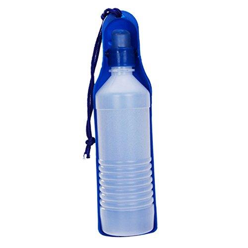 Newin Star 500ML Azul Botella con Botella dispensador de Agua portátil para Perro Gato