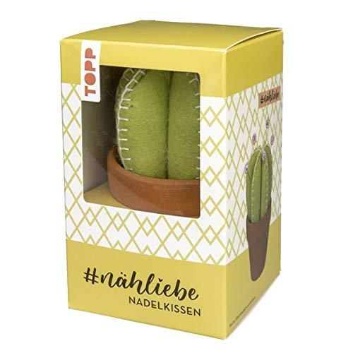 #nähliebe Kaktus-Nadelkissen: Trendiges Kaktus-Nadelkissen mit Tontöpfchen