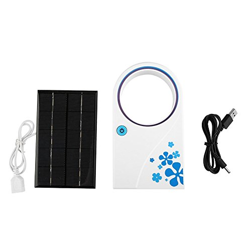 or Outdoor Solar Fan 2W 5V Solar Panel Powered Fan, Tragbare Mini USB Solar Lüfter für Outdoor Camping Reisen Angeln Home Office ()