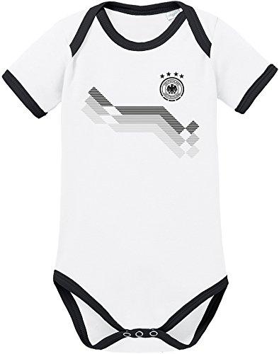 EZYshirt WM Helden   WM 2018 Deutschland Baby Body Kurzarm Bio Baumwolle