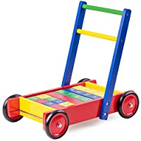 Tidlo Wooden Babywalker with ABC Blocks