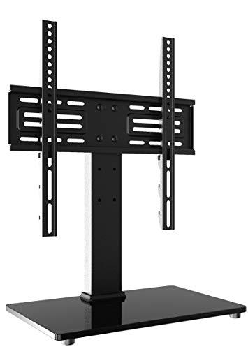 FITUEYES TV Ständer TV Standfuss TV Stand Höhenverstellbar(6 Gange) für 27-55 Zoll TV Max.VESA 400x400mm TT103701GB