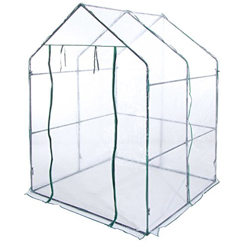 Verdelook serra a casetta senza ripiani dimensioni 140x140x197 giardino esterni