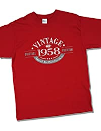 1958 Vintage Year - Aged to Perfection - 59 Ans Anniversaire T-Shirt pour Homme