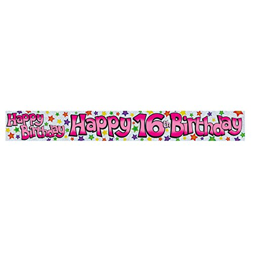 Sweet 16 Happy Birthday Banner 2.6 m long by Expression Factory (Banner Sweet Happy Birthday 16)