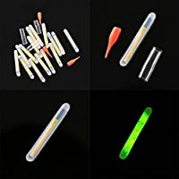 Forfar 15pcs fishing light sticks 4.5mm Bottled Fishing Light Stick Fluorescent Light Night Float Clip On Dark Glow Stick