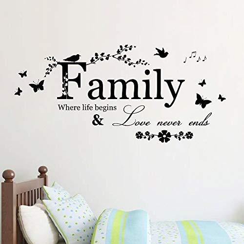d Familie Brief Zitat Abnehmbare Vinyl Aufkleber Kunstwandhauptdekor Wandaufkleber aufkleber wandbild dekoration c ()