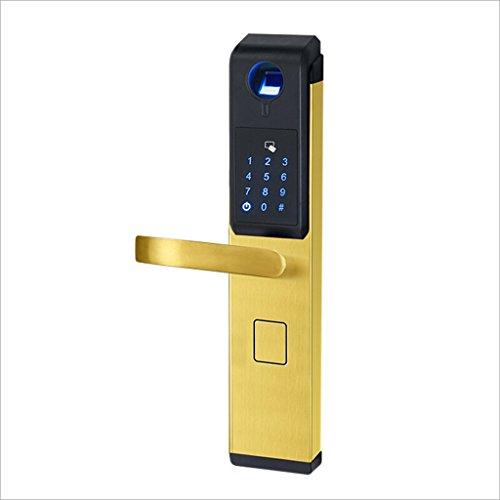 Nwn Smart Fingerprint Passwortsperre Kreditkarte Elektronische Induktive Türschloss Home Security Türschloss (Farbe : Gold, größe : A)