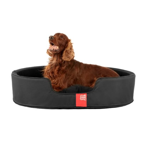 Poi-Dog-Luxury-Oval-Dog-Bed-LARGE-Nest-Black-Dog-Beds-41-Dog-Beds-for-Large-Dogs