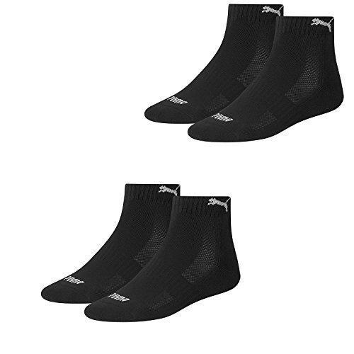 PUMA Unisex Match Quarters Socken Sportsocken MIT FROTTEESOHLE 4er Pack (schwarz/schwarz (200), 35-38)