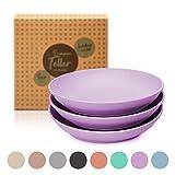 Set di 6 piatti per zuppa (D19.5xH3.5cm) - piatto rotondo per zuppa - bambù | lavabile in lavastoviglie, resistente agli alimenti, ultra leggero e infrangibile: piatto di bambù/stoviglie