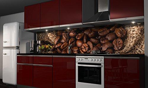 """Küchenrückwand Folie selbstklebend \""""Kaffee\"""" Klebefolie Dekofolie Spritzschutz Küche verschiedene Größen"""