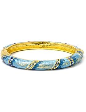 Armreif Gold Ton mit Crystal (hellblau) Made mit Zink Legierung & Emaille von Joe Cool