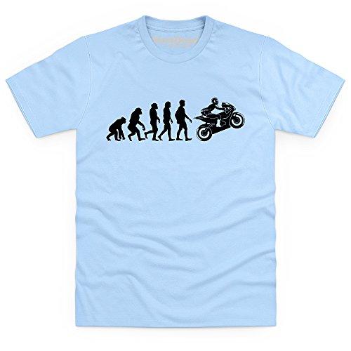 Evolution of Motorcycling T-Shirt, Herren Himmelblau