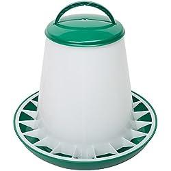 shorefields Eton verde y blanco plástico alimentador de aves de corral 6kg