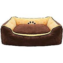 ZXCC Caseta para Perros de tamaño Mediano, Nido para Mascotas de Color marrón, Calidez