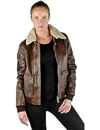 Amazon.fr   Blouson Aviateur Femme - Femme   Vêtements 2f8d27e091b7
