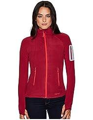Marmot Damen Flashpoint Jacket Fleecejacke, Red Dahlia, XL