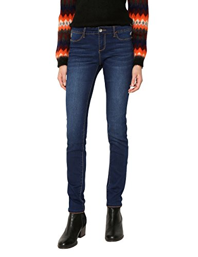 Desigual Second Skin, Jeans Ajustados para Mujer, Azul (Denim Medium Dark 5161), W30