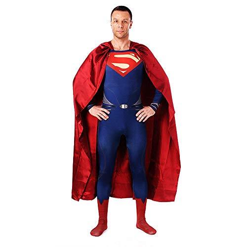 YXRL Superman Body Polyester Overalls Captain Kostüm Erwachsene Kind Weihnachten Halloween Show Cosplay Kostüm Blue-Adult - Top Kostüm Drama Serie