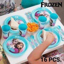 Stoviglie per Bambini Frozen (16 pezzi) (1000027433)