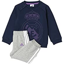 adidas I Real Jogger Pantalones de Chándal, Niños, Azul (Maruni / Vioray), 104